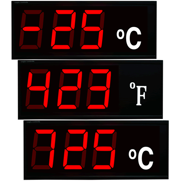 Large Digit LED Temperature Displays