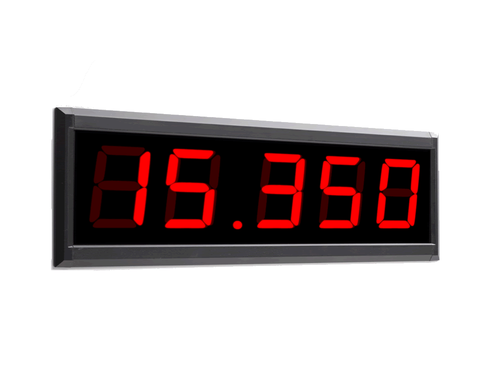 Flush Panel Mounted Large Digit Display Example