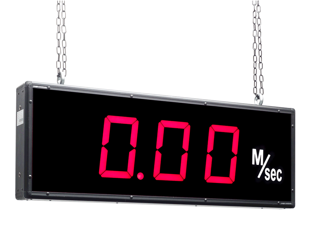 Suspension Mounted Large Digit Display Example