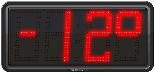 Commercial Large Digital LED Temperature Display