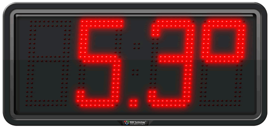 Large Digit Temperature Led Displays Commercial And