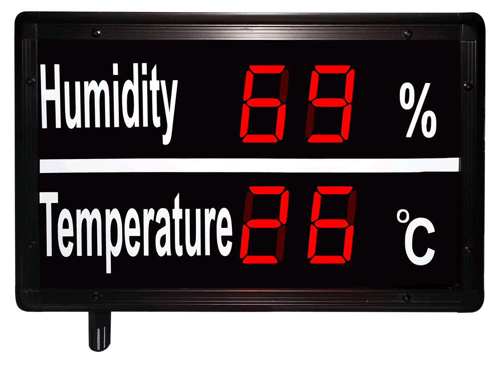 Large Digital Temperature and Humidity Display