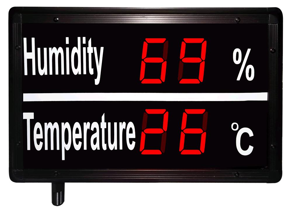 Example of Large Digital Temperature Display