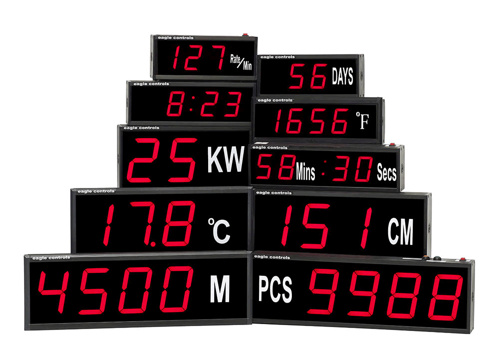 Selection of Large Digital LED Displays supplied by Eagle Controls