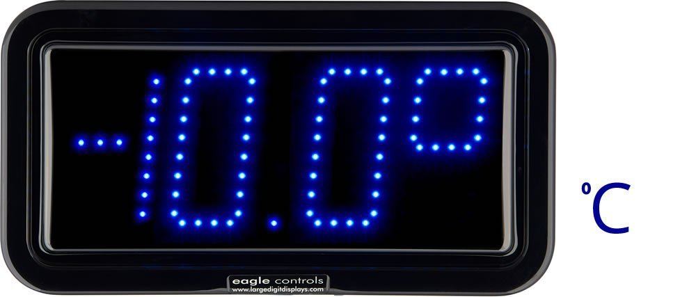 Example large digital LED Cold Store Temperature Display C scale