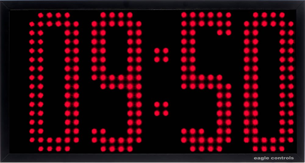 LED Clock 4 digit EA30-40 12 -16 inch