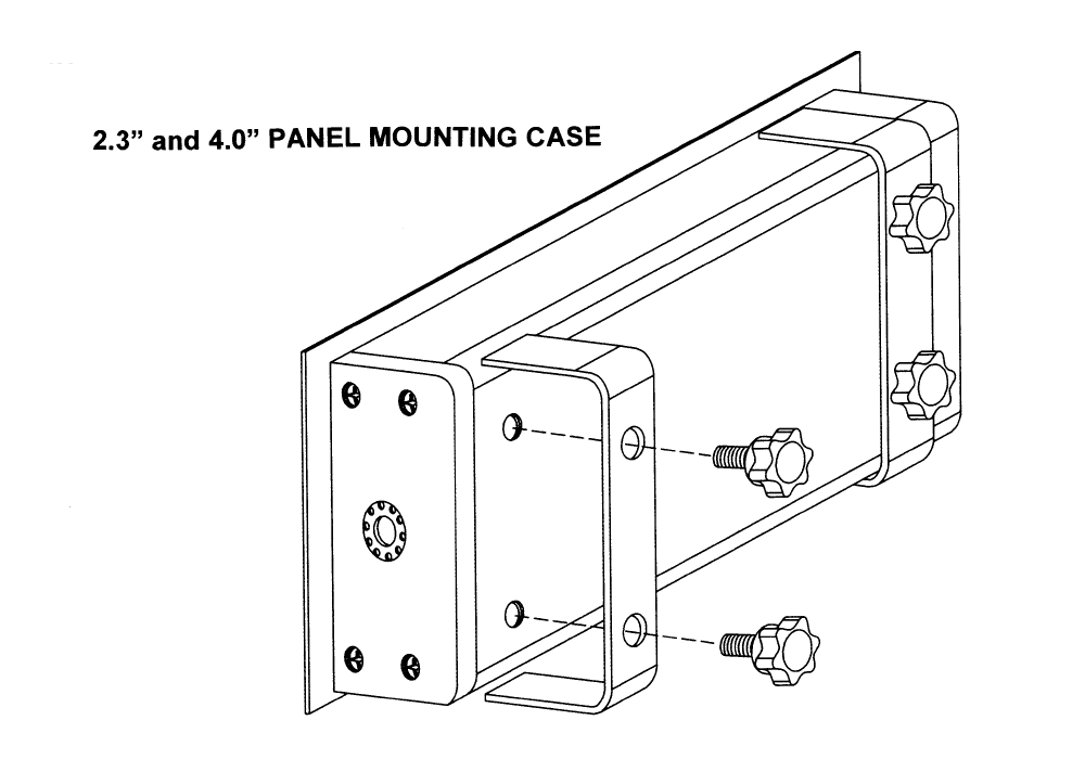 """2.3"""" and 4.0"""" Panel Mounting Case"""