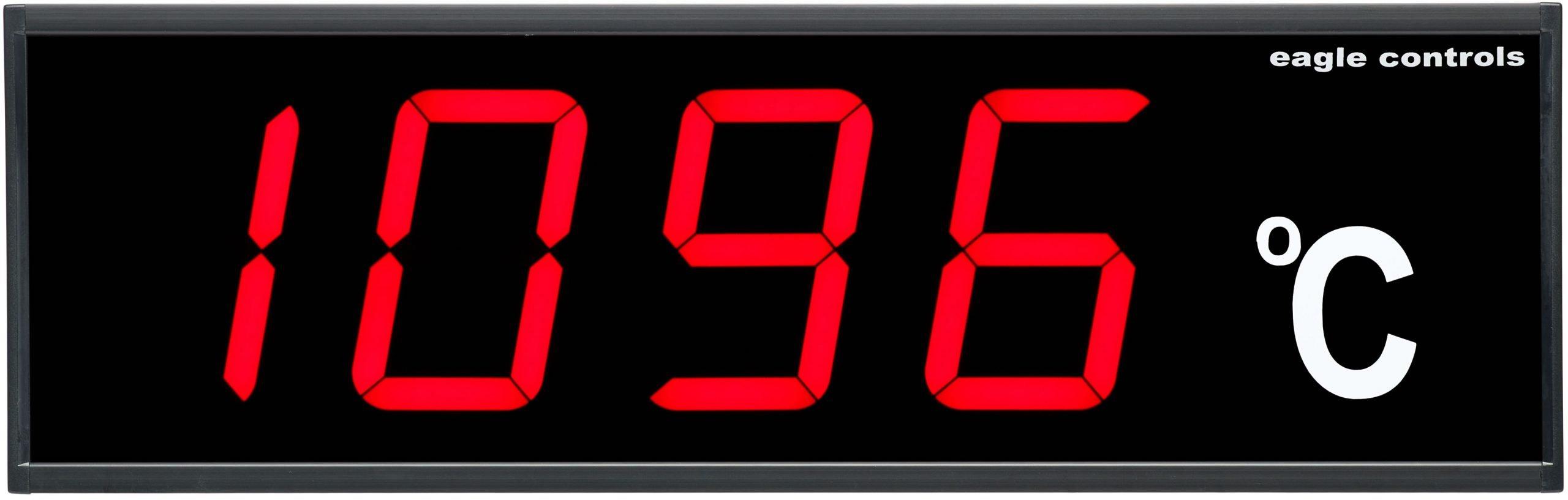 4 Digit LED Temperature Display C Industrial