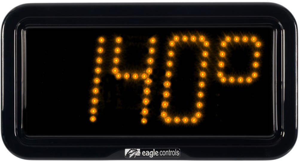 Commercial Temperature Display Amber
