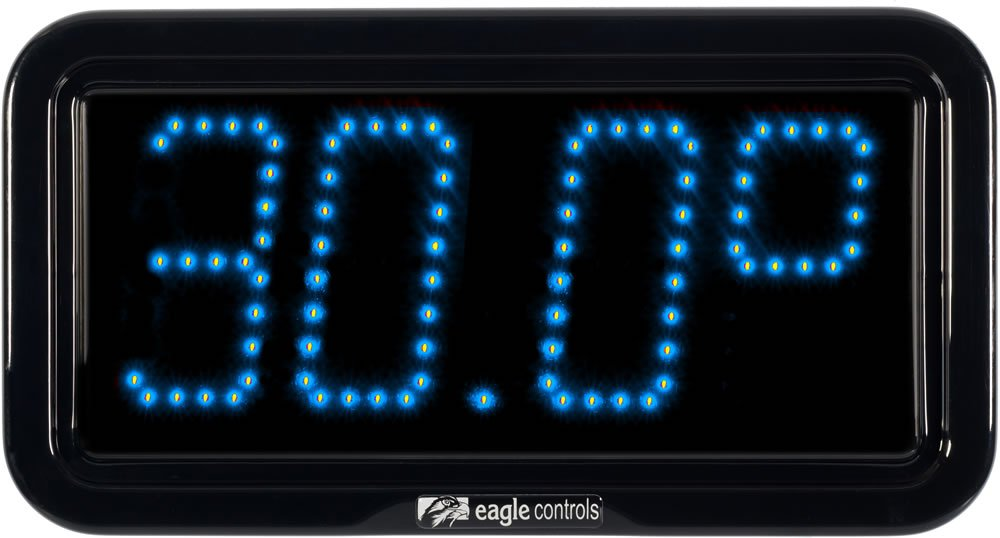 Commercial Temperature Display Blue