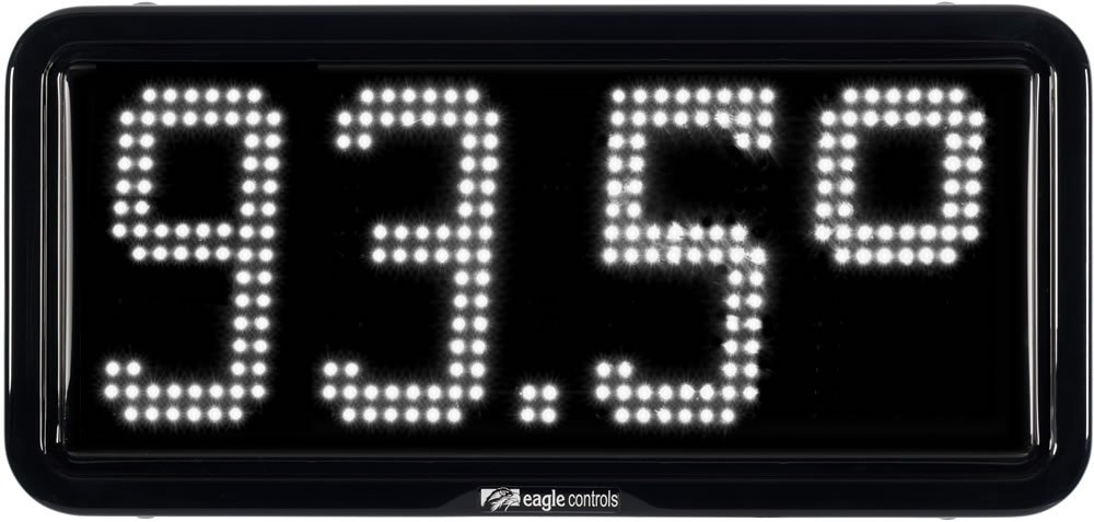 Commercial Temperature Display white
