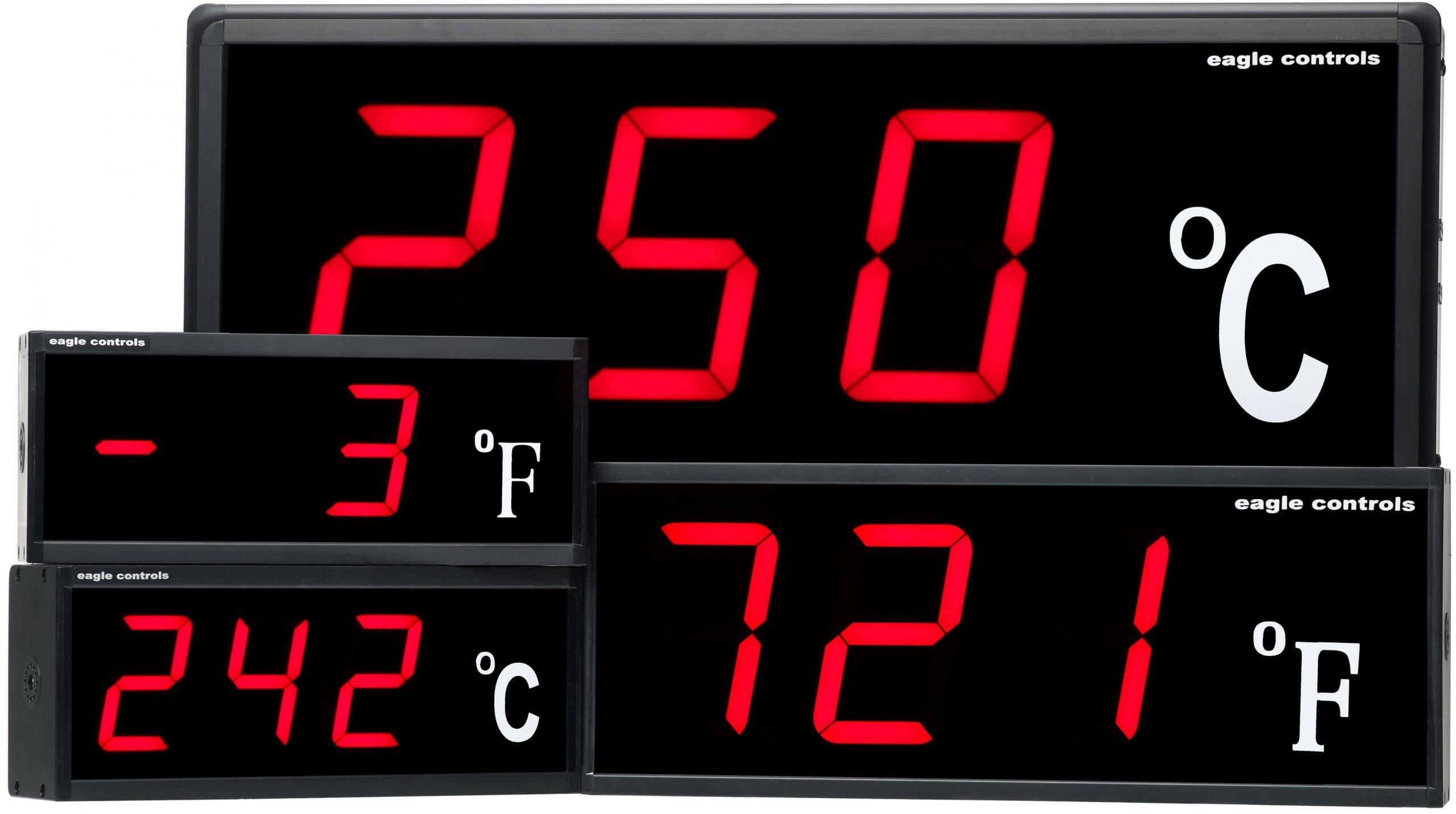 LED Temperature Displays Group Industrial