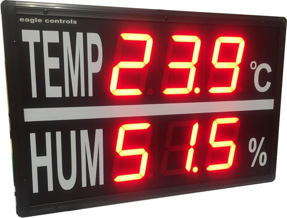 Temp Humidity Display 6 inches